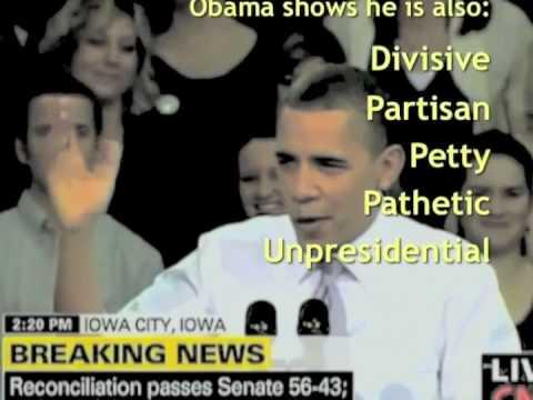 Obama's OUTRAGEOUS ARROGANCE & Divisiveness