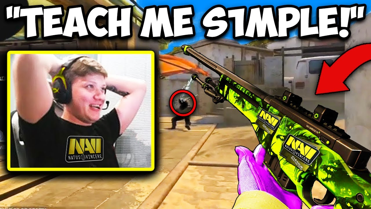 S1MPLE DOESN'T NEED HIS AWP SCOPE AT ALL?! CS:GO Twitch Clips