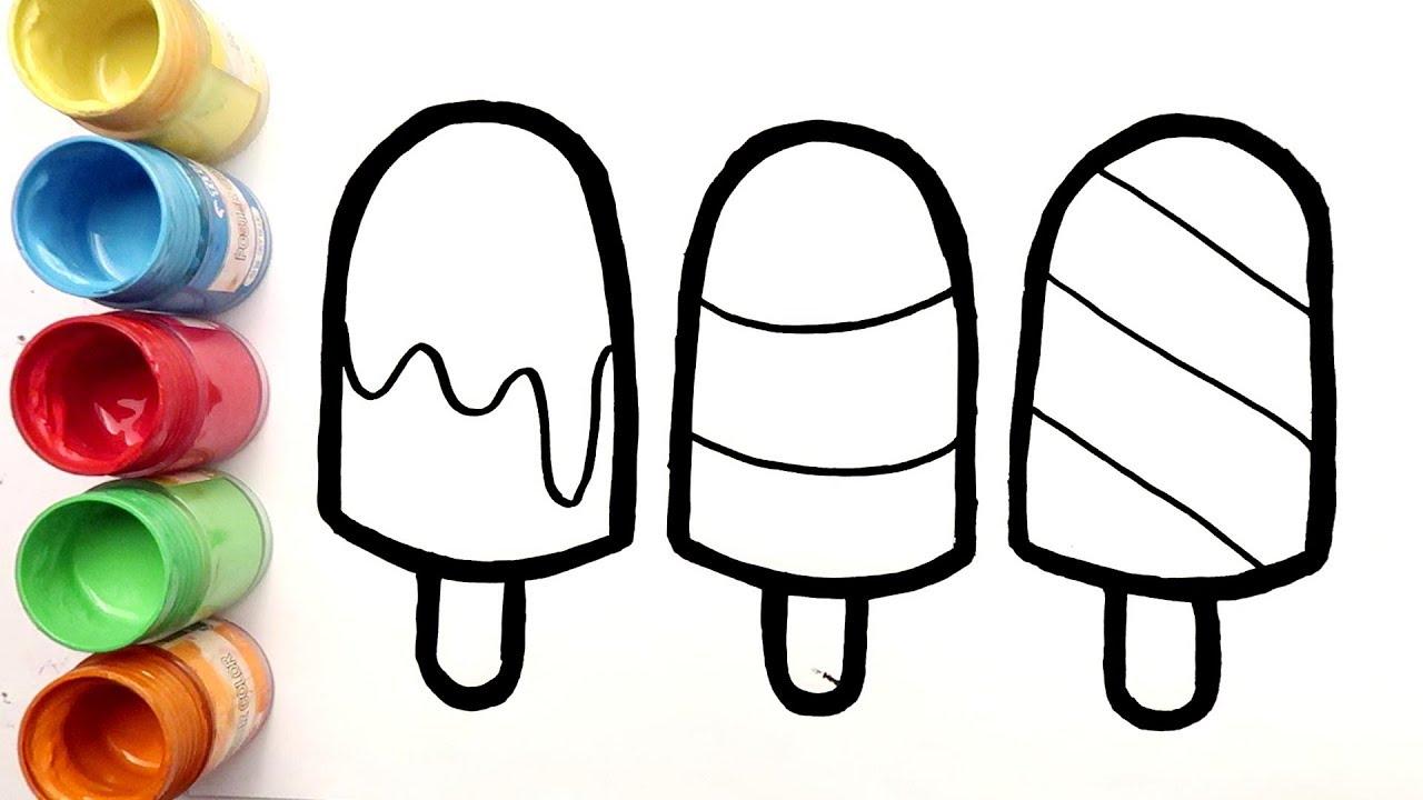 Cara Menggambar dan Mewarnai 3 Es Krim Enak untuk Anak ...