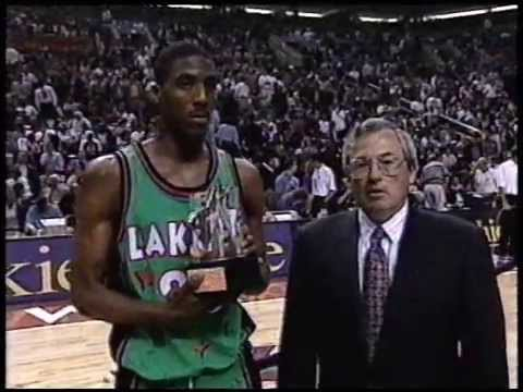 Eddie Jones - 1995 NBA Rookie Game Highlights (MVP)