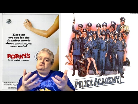 The Police Academy & Porky's movie franchises (reviews, personal history, & box office numbers)