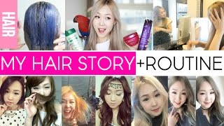 My Hair Story, Stylist & Current Routine ♡ Blonde Care Tips 미즈뮤즈의 에쉬 블론드 헤어케어 루틴 MEEJMUSE(Subscribe for more! http://j.mp/mjms1o7i Instagram, FB, Twitter: @meejmuse Snapchat: @meejmusereal Hey musers!! Today's video is finally about my ..., 2016-06-04T14:57:18.000Z)