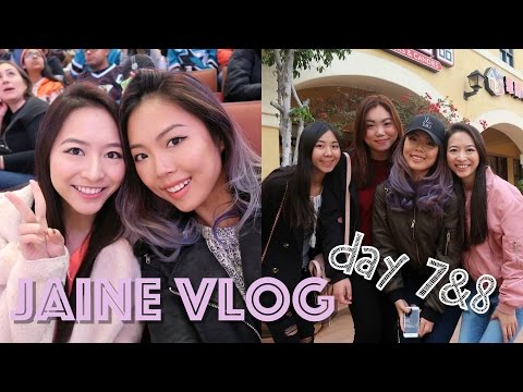 ❤️ Elaine Hau - Jaine Vlog IV: Day 7&8 Dim Sum 飲茶🍵 Hockey Game Anaheim Ducks👯