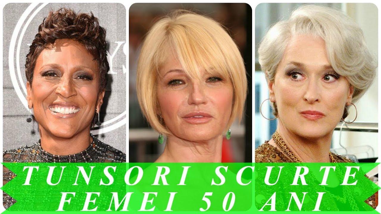 Tunsori Par Scurt Pentru Femei 50 Ani 2018 Youtube