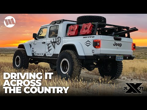 Driving Our EVO Built Jeep Gladiator Overland Truck Across the Country to the Nitto JL JT Experience