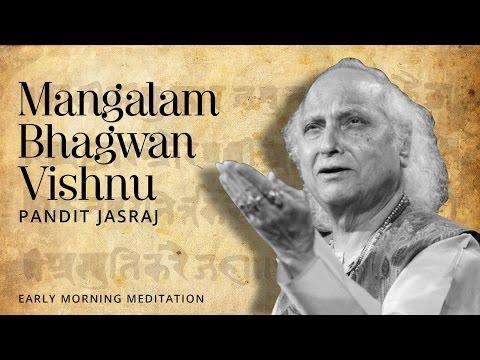 Lord Krishna Sloka - Mangalam Bhagwan Vishnu [Devotional Mantra] | Pandit Jasraj