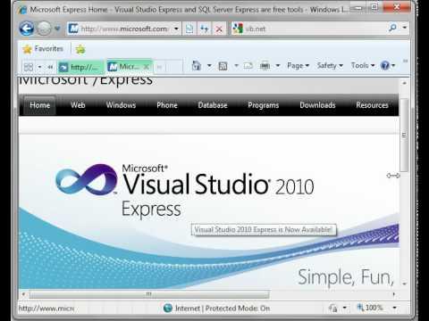 Visual Basic 1 - Downloading Vb.net Express (free)