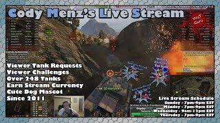 World of Tanks Live Stream HD Maps + Sandbox [WoT Guru] 10/11/17 [253 Tanks]