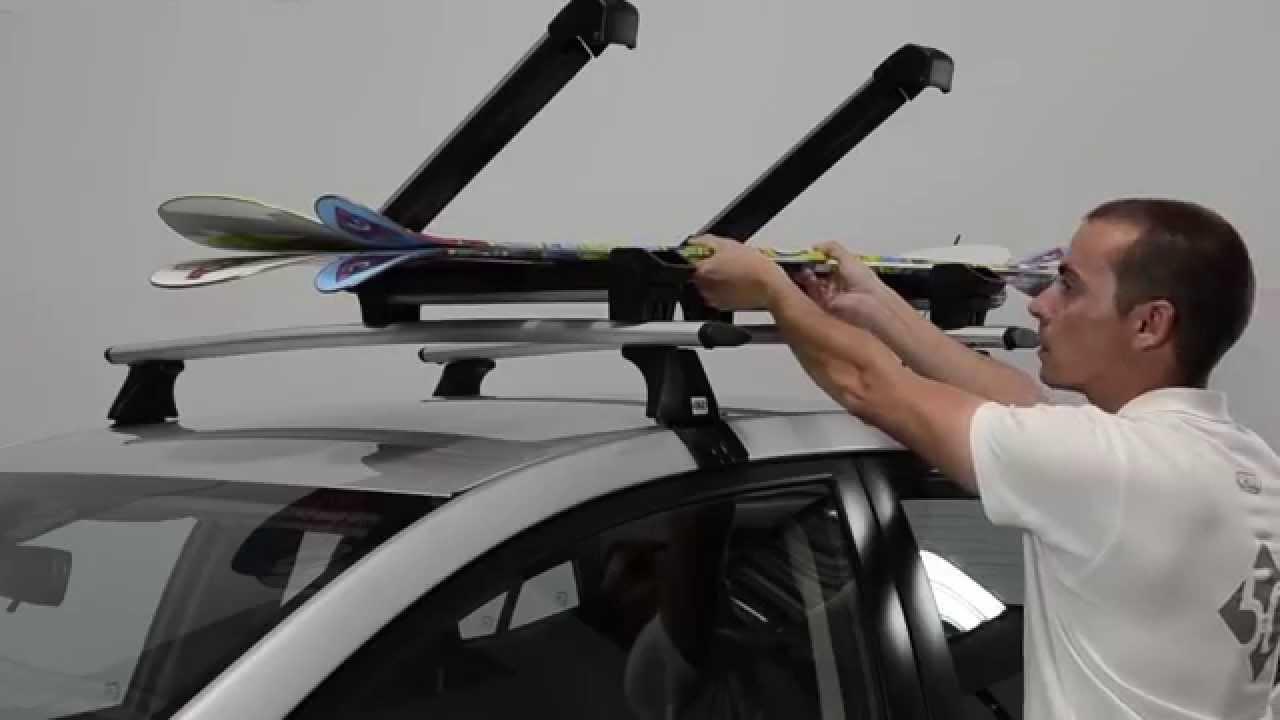 Cruz Ski-Rack - Roof Ski Carrier - YouTube