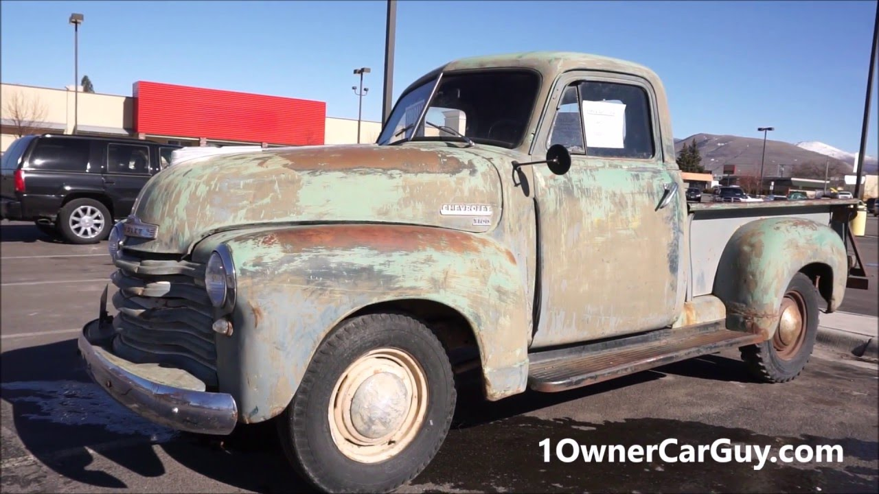 1951 Chevrolet 3100 Classic Pickup Truck Video Vintage Chevy - YouTube