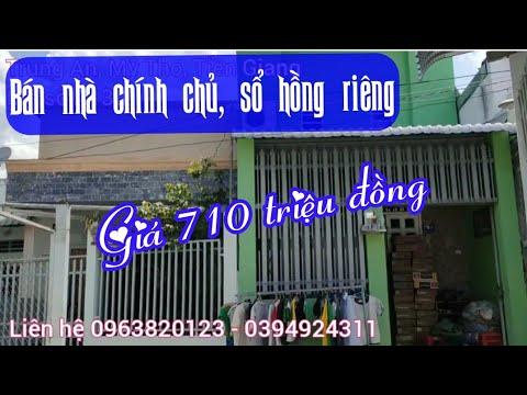 💌A138 || Bán nhà và đất chỉ có 710 triệu có sổ hồng riêng, chính chủ ở TP Mỹ Tho, Tiền Giang