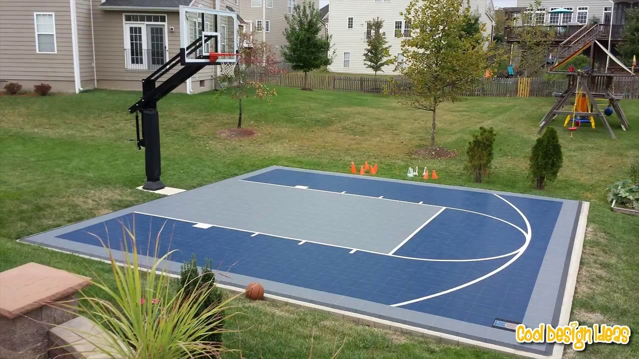 Backyard Basketball Court You