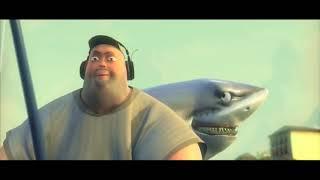 Короткометражные мультфильмы Мультик про акулу и смелого рыбака