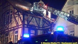 [E] +++ SILVESTER 2013 - EINSATZDOKUS ||| Feuerwehren im Einsatz ||| BRAND IN NEUHAUSEN [FILDER]