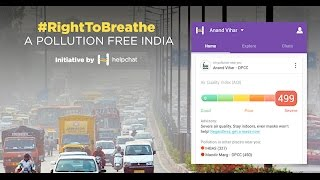 Helpchat app | Introduces Pollution Alert Feature