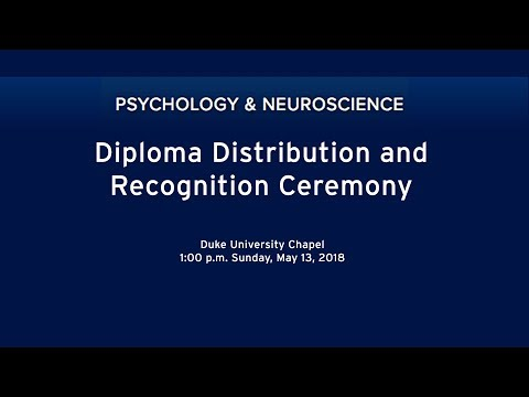 2018 Psychology Diploma Distribution and Recognition Ceremony