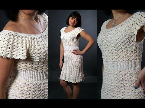 Платье воздушное крючком