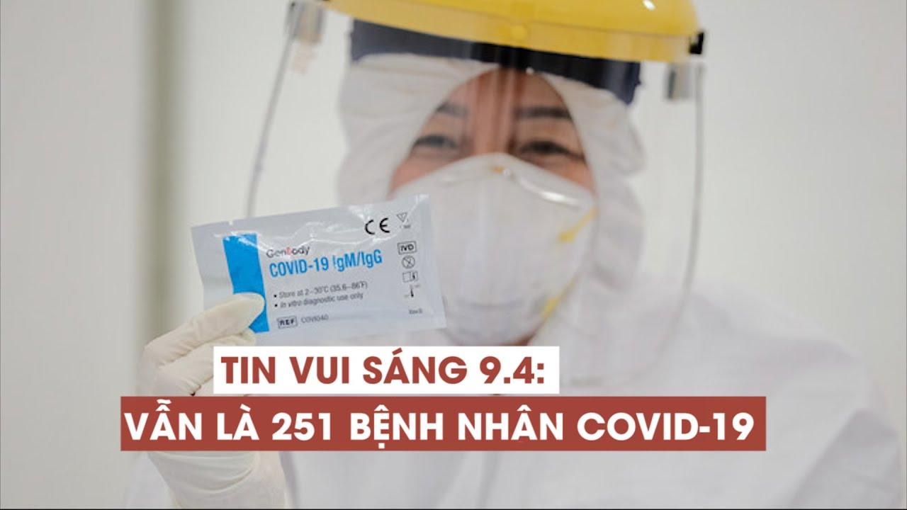 Sáng 9.4 không có thêm bệnh nhân Covid-19: 251 ca mắc bệnh, 126 ca xuất viện