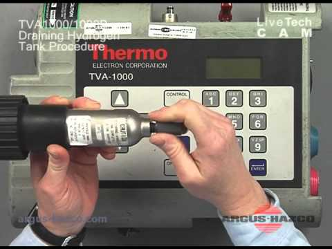 Thermo TVA1000B Hydrogen Tank Drain