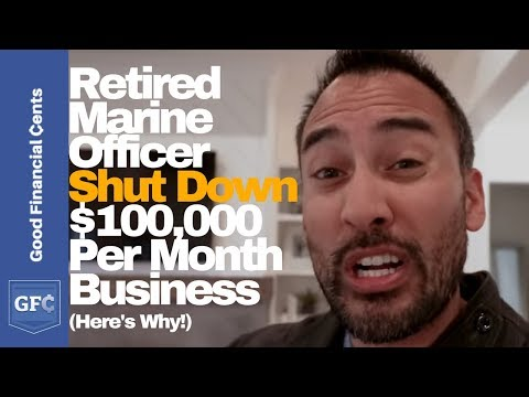 Retired Marine Officer Shut Down $100,000 Per Month Business
