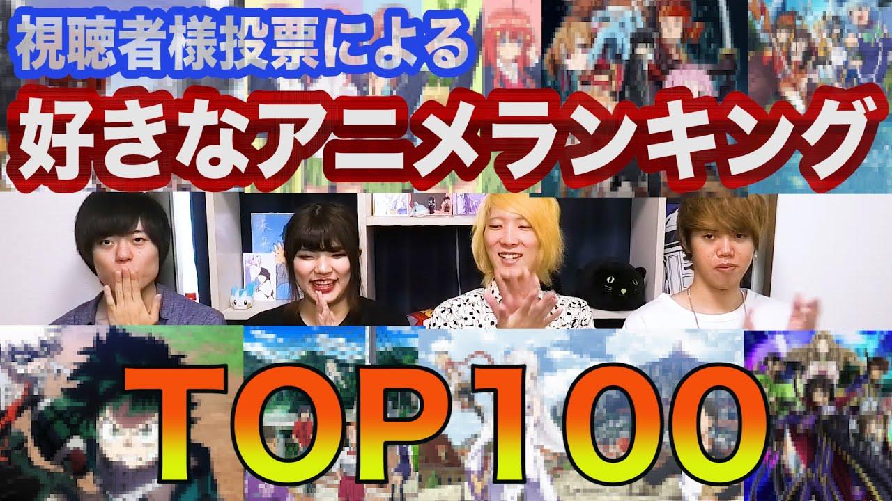 視聴者投票による「好きなアニメランキング TOP100!!」