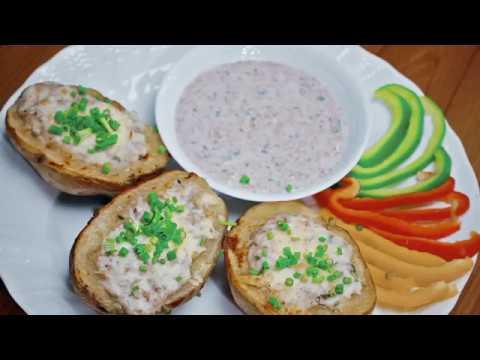 Tuna Stuffed Potatoes Recipe by Monno Ceramic