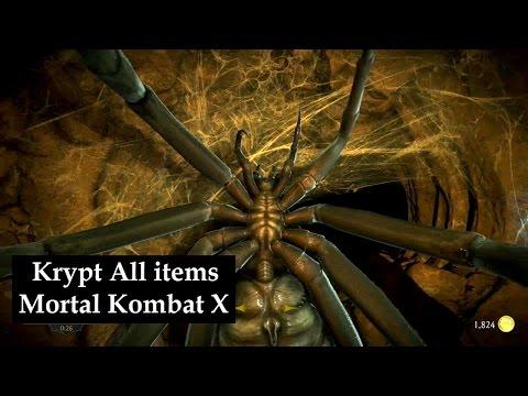 Krypt Walkthrough all Items Mortal Kombat X Krypt unlock