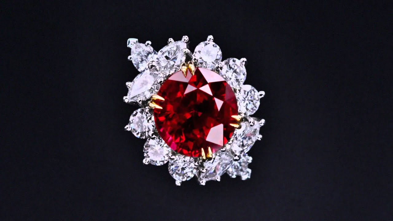 Ruby And Diamond Ring Youtube