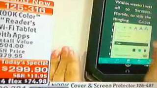 Home shopping network selling nook