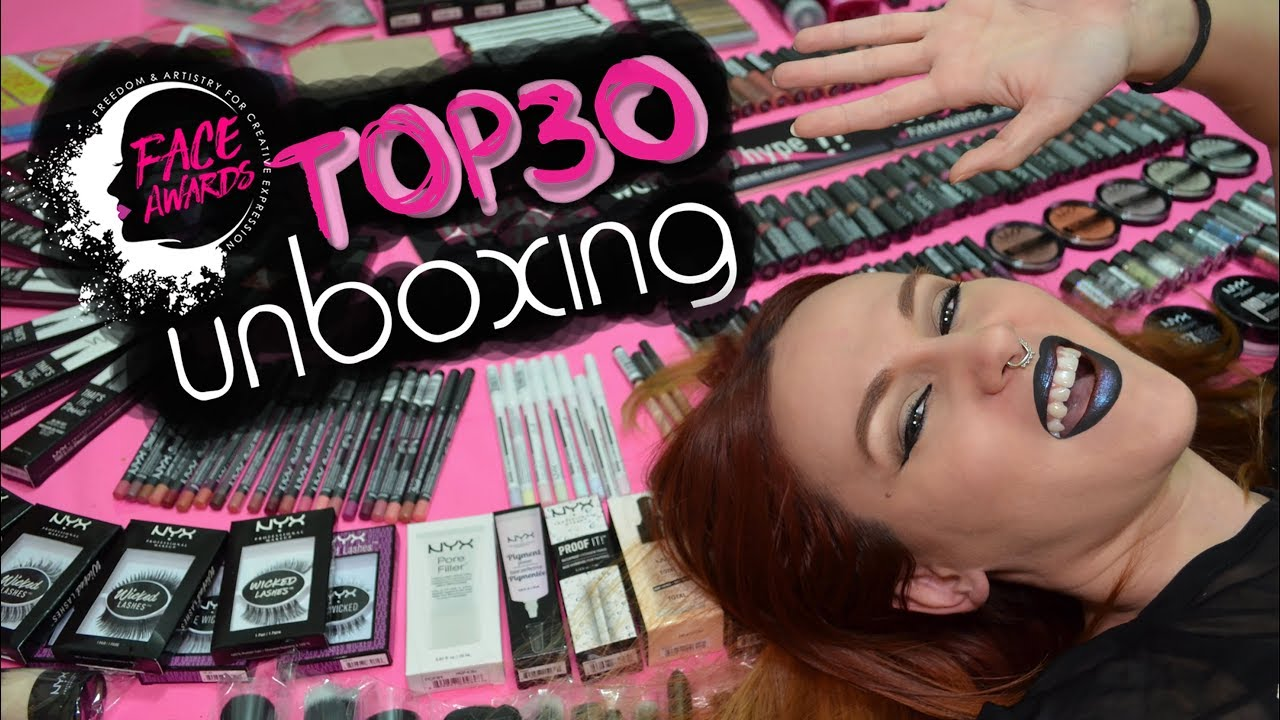 079044d99ef UNBOXING Top30 NYX Professional Makeup Spain FACE AWARDS 2018 ...