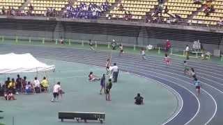 2014IH陸上北九州地区予選 女子4×100mリレー決勝