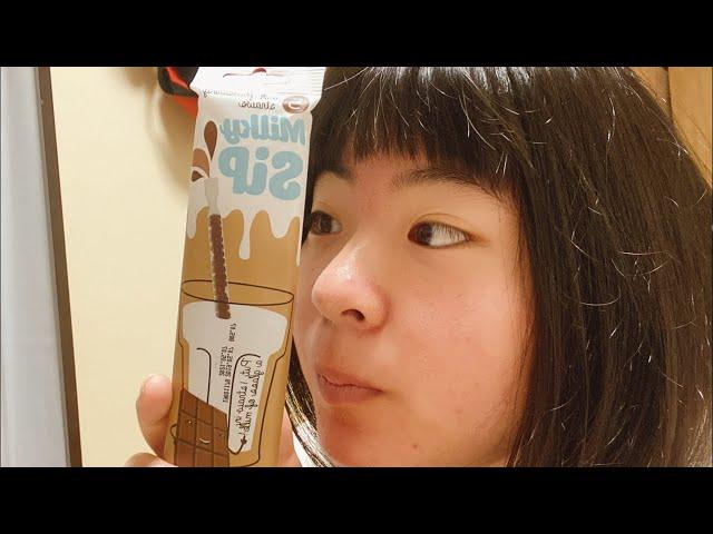 チョコレートストローみっけ!チューチューゴクゴク