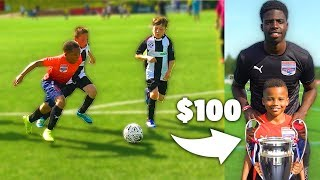 I Donated a Kid $100 Football Boots If His Team Wins Soccer Tournament (9 YEAR OLD RONALDO)