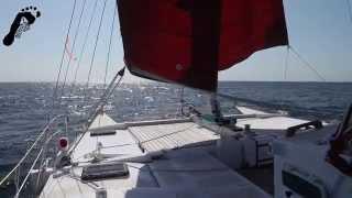 Barefoot Boat Bums Sailing 'Gleda' Wharram tiki 38 Episode 1