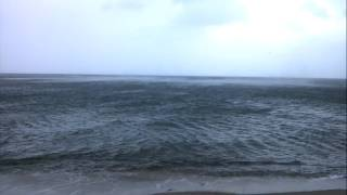 Strong winds whip up sea into spirals