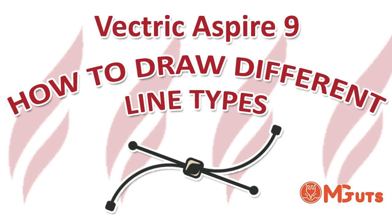 How to draw Polilyne, Arc and Curve in Vectric Aspire 9