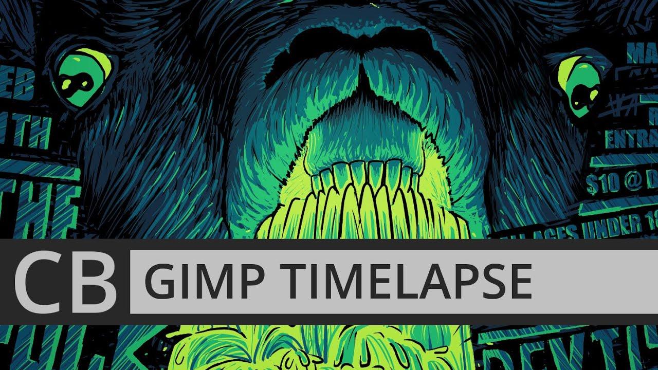 Poster design gimp - Gimp Timelapse Valentine Denied Punk Gig Poster