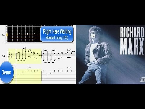 RIGHT HERE WAITING Guitar Tutorial - Easy Guitar Songs for Beginners - How To Play Guitar Songs