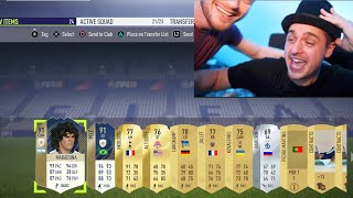 I GOT PELE + MARADONA IN THE GREATEST PACK OPENING EVER!! *not clickbait* (FIFA 18)