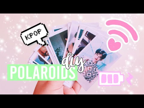 DIY K-Pop Polaroids — BTS, NCT, EXO And More 🌸🌷💫 | Hunnie Bunnie