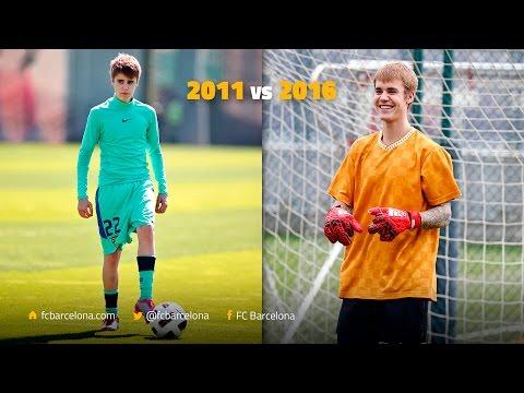 Justin Bieber joins up with Barça: 2011 v 2016