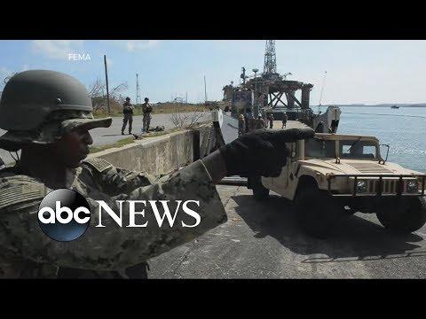 Acting Homeland Security Secretary Elaine Duke praises the federal response in Puerto Rico