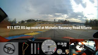 Porsche 911 Gt2 Rs Sets Production Car Lap Record At Michelin Raceway Road Atlanta