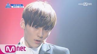 PRODUCE 101 season2 [단독/직캠] 일대일아이컨택ㅣ황민현 - 슈퍼주니어 ♬Sorry Sorry_2조 @그룹배틀 170421 EP.3