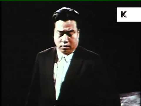 1960s China, Peking Symphony Orchestra Perform, Colour Archive Footage