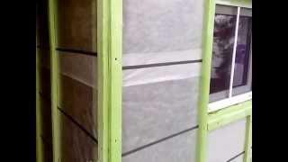 видео Утепление деревянного дома из бруса эковатой и сайдингом