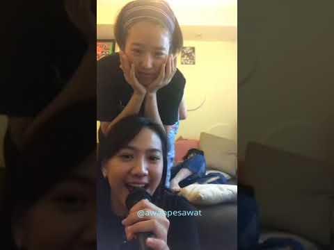 Shania dkk karaoke Lagu JKT48 - Karena Kau Ada Untuk Diriku (Live Instagram)