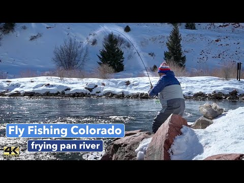 FRYING PAN RIVER FLY FISHING - @Colorado Fisher And I Catch Some Big Trout - Winter Fly Fishing 4k