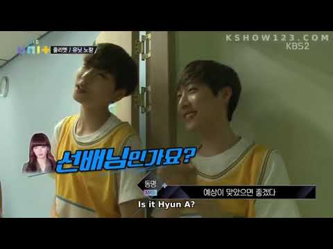 Ki Jung and Dongmyeong fangirling over HyunA | The Unit Epi 12