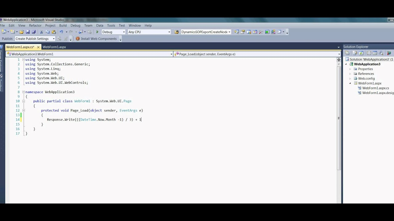 C# - How to convert date to quarter number